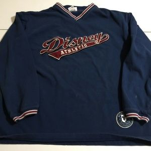 Disney Athletic XL Navy Sweatshirt Embroidered
